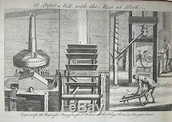 1752 Universal Magazine Rare Gravures Caméra Chasse Aux Baleines Microscope Obscura