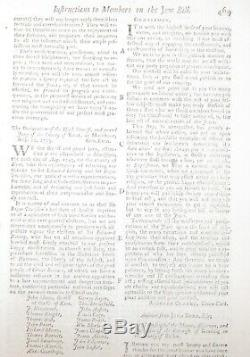 1753 Gentleman's Magazine Octobre Juifs Projet De Loi Antisemitisme Louisiane Boston & C