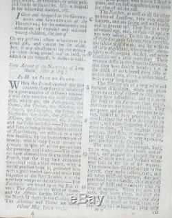 1753 Magazine Gentleman Français & Indian War Liberty Bell Raised Philadelphie