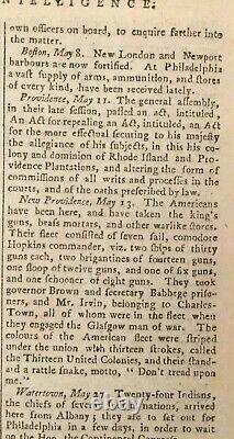1776 Town & Country Magazine Juillet Don'tread On Me Flag Boston Harbor Rev. War