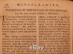 1787 1ed American Magazine Jefferson Constitution Indépendants De L'esclavage Fédéralistes 6v