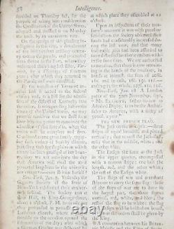 1791 New York Magazine John Adams Constitution Vermont 14th State Maple Sugar