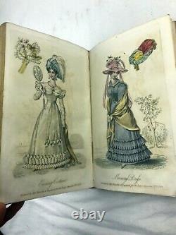 1826 1827 1829 Lady's Magazine Set Complet Avec Gravures Colorées À La Main Rare
