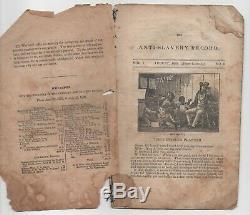 1835 Originale Anti-slavery Enregistrement Vol 1, No 8 Août Abolitionniste Esclave