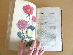1840 Magazine Floricultural Cabinet & Florists 13 Col Plts Flora Fauna 1er Ed