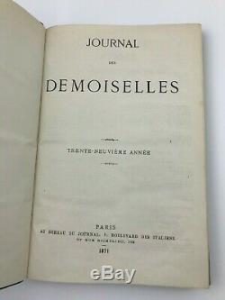 1871 Journal Des Demoiselles Colorisée Mode Magazine Plaques Victorienne