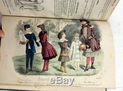 1883 Journal Des Demoiselles Plaques Main De Mode Couleur Magazine Victorienne