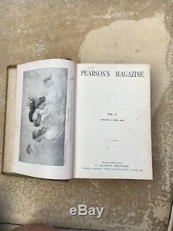 1896 Magazine Pearson Vol. 1 Vol. 2 Vol. 4 Hg Wells, Rudyard Kipling, Etc.