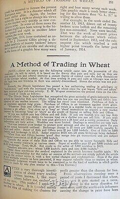 1914-1915 Magazine De La Bourse De Wall Street Richard Wyckoff