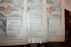 1927 La Watch Tower 24 Magazines 1 Janvier Tru 15 Décembre Original Année Ensemble