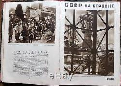 1930 Russie Revues Soviétiques L'urss Dans La Construction Série De 12, Premiers Numéros
