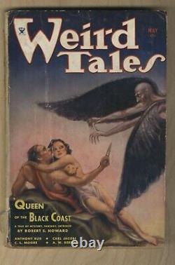 1934 Mai Pulp Weird Tales Robert E. Howard Conan Queen Of The Black Coast