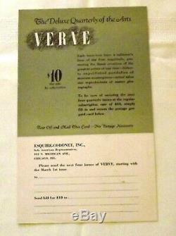 1937 Verve Vol. 1 N ° 1, Magazine Français, Lithographies Léger, Miro, Rattner, Bores