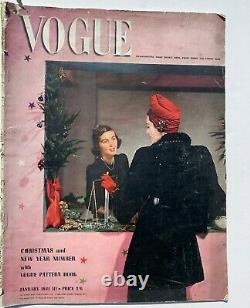 1941 Vintage Vogue 40s Magazine De Mode En Temps De Guerre Lee Miller Cecil Beaton Ww2