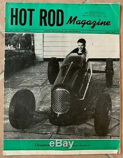 1948 Avril Hot Rod Roadster Piste À Tête Plate Scta El Mirage Indy Bonneville