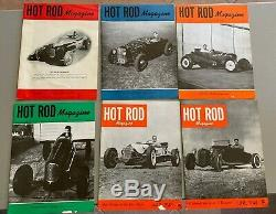 1948 Janvier Février Mars Avril Mai Juin Hot Rod Magazine Réimpression Course Scta