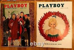 1956 Playboy Complete Full Year, 12 Issues, All Centerfolds Intact, Good/excell