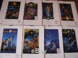 1995 1ère Édition De Maquettes Avant Publication Art Parrish 3 Proofs Maxfield Livre +