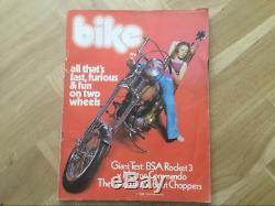 1er Émettons Jamais Bike Magazine D'été 1971. Véritable Et Authentique. Bonne Condition