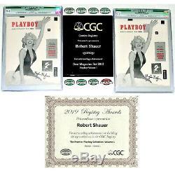 2 Plus Haut Cgc Graded Hugh Hefner Dédicacées 1953 # 1 Avec Playboys Pages Blanches
