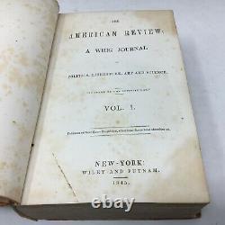 3 Edgar Allan Poe Works Imprimé En 1845 La Révision Américaine, Bound Magazine
