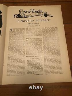 31 Août 1946 New Yorker Magazine Hiroshima John Hersey