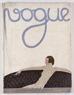 A. E. Marty Art Déco Août 1930 Vtg Paris Vogue Français Fashion Collections Travel