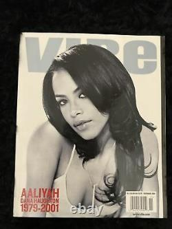 Aaliyah Very Rare Vibe Magazine Tribute Cover Novembre 2001 Collectors Issue