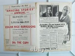 Amazing Stories Août 1927 Pulp Vg Fine 4.5 1st War Of The Worlds Livre Rare