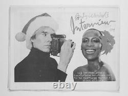 Andy Warhol Naomi Sims Diana Ross Mick Jagger Interview Magazine Décembre 1972