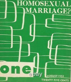 Août 1953 Un Magazine Gay Lesbienne Intérêt Homosexuel Point De Vue Vol 1 # 8