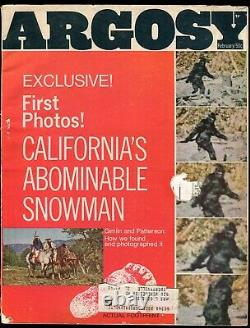 Argosy Magazine Californies Abominable Snowman 1968 Bigfoot, Sasquatch Rare