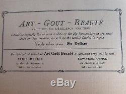 Art Gout & Beauté Français De New York Magazines Mode Janvier Décembre 1926