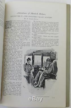 Arthur Conan Doyle Le Mystère De La Vallée De Boscombe Dans Strand Magazine Première Édition
