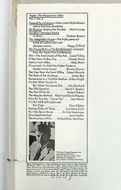 Aspen The Magazine In A Box Vol 1 No 2. Première Édition, 1er Mai 1966