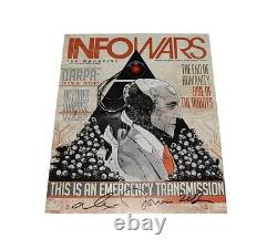 Autographié Alex Jones 2012 Infowars Magazine Original Signed First Edition Coa