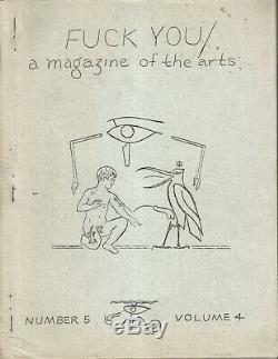 Baise Vous A Magazine Des Arts N ° 5 Vol 4 Ed Sanders Lenore Kandel Whalen