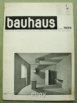 Bauhaus Iii-1 1929 Schlemmer Klee Stam Brandt Gabo Rare Magazine D'avant-garde