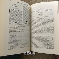Blk $ Cut Novembre Steinitz International Chess Magazine 1885-91 Olms 3v. Judaica