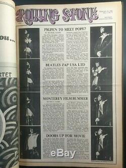 Bound De Rolling Stone Magazine Volume 1 Numéro 1-15 1967-1968 John Lennon Rare Ex-mt
