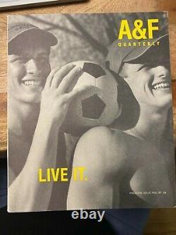 Bruce Weber Premier Numéro Abercrombie & Fitch Catalogue Rare A&f Modèles Masculins