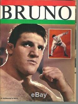 Bruno Sammartino Lutte Magazine Lot De 10 Magazines Non Signés Très Rare