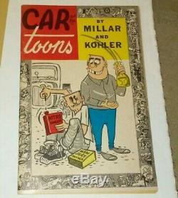 Caricatures Vol 1 # 1 Millar Et Kohlar 1959 Hot Rod Faites Glisser Big Daddy Roth F / -vf