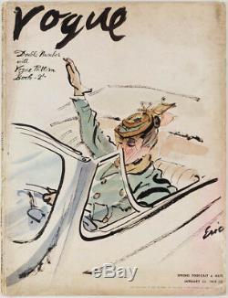 Carl Erickson Magazine Vogue Janvier 1939 Eric Années 1930 Livre De Modèle Numéro Double