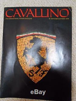 Cavallino Original Septembre / Octobre 1978 Ferrari Magazine Première Impression