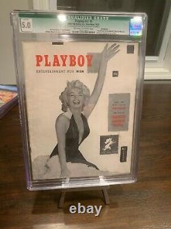 Cgc 5.0 Décembre 1953 Playboy #1 Hugh Hefner & Marilyn Monroe Missing Centerfold