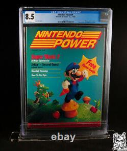 Cgc 8.5 Puissance Nintendo Mario Premiere Numéro #1 Premier Volume Classé 1988 Nes