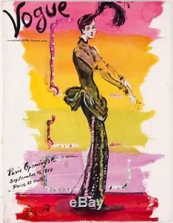 Christian Berard Paris Ouvertures Américain Us Vogue Magasin 15 Septembre 1939 Vtg