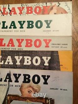 Collecte De Playboy Toutes Les Problèmes Des Années 1950 #1 Marilyn Cgc 4.5 #2 Cgc 4.0