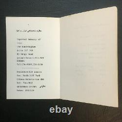 Collection De Six Livres Persans Pahlavi - Magazines Du Ministère Des Affaires Étrangères